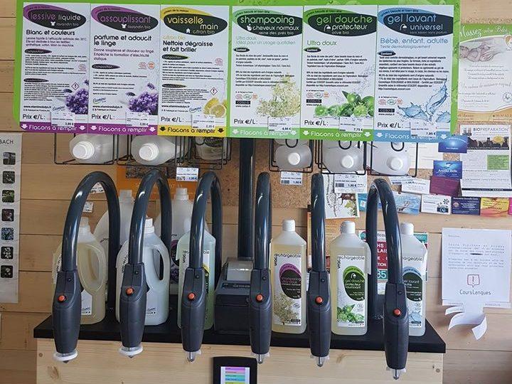 Produits ménagers bio en vrac au magasin Éléments Terre Pavie Auch Gers 32